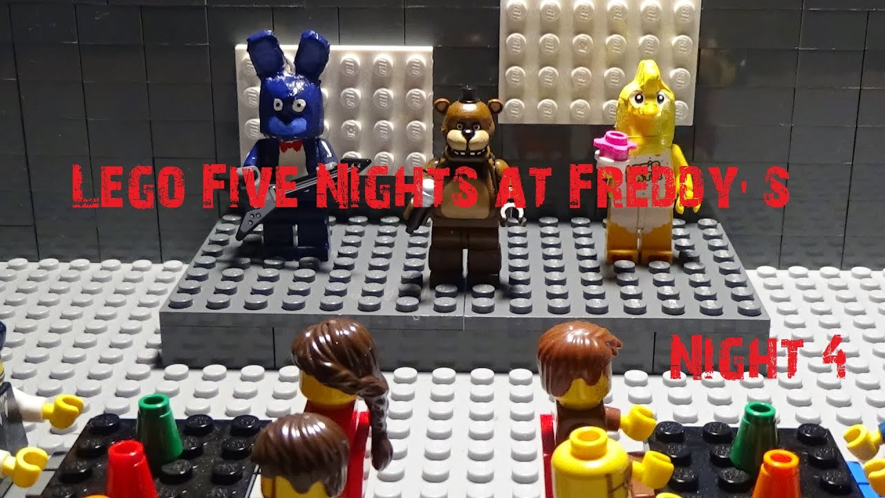 lego five nights at freddy u0026 39 s - night 4  4k
