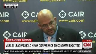 ISNA Board Member Rizwan Jaka addresses press conference condemning the Orlando shooting.