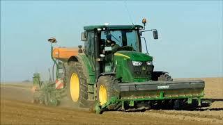 4 traktory na polu czyli siew pszenicy 2018 | Fendt | John Deere | Kubota |