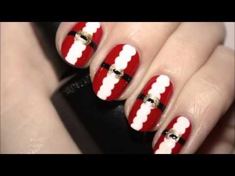 Christmas Nails Modele Unghii De Craciun Youtube
