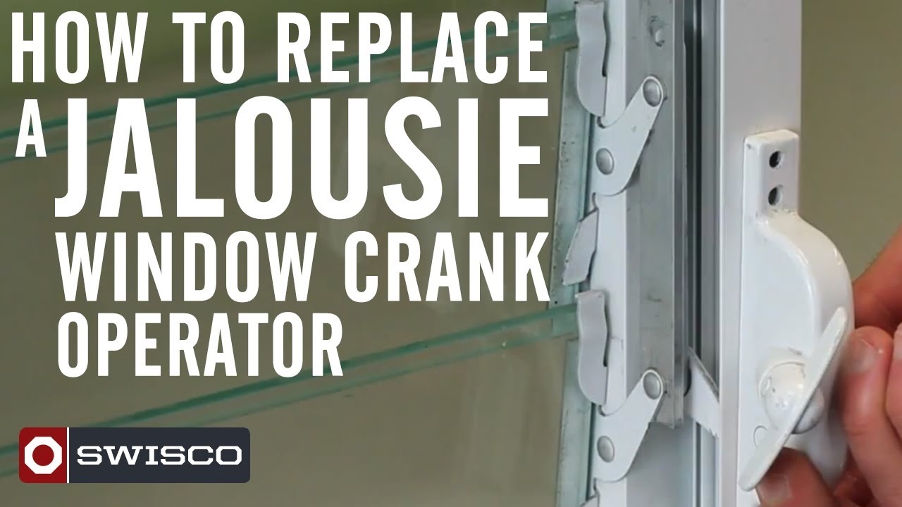 jalousie window replacement tafco windows how to replace jalousie window crank operator youtube
