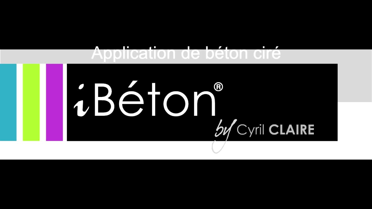 Application b ton cir ib ton by cyril claire youtube for Beton mineral sur faience