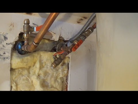 How To Patch Drywall Around Pipes Youtube