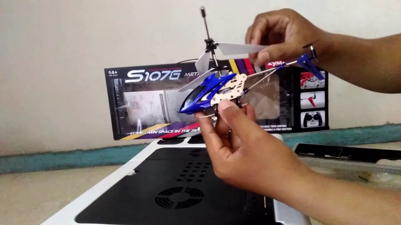 Unboxing Test Drive Helikopter Remot Mainan Rc Syma S107 Metal 3