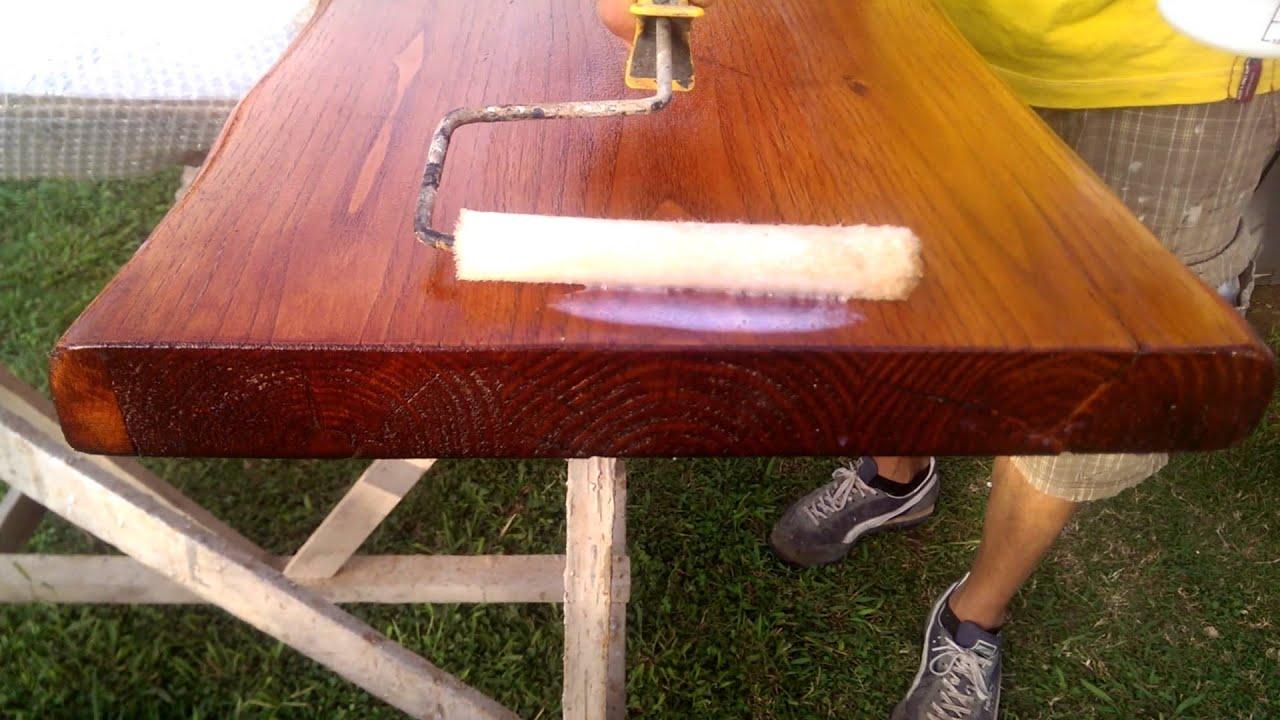 Lavorare Il Legno Grezzo : Designxtutti finitura top legno trattamento idrorepellente youtube