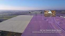 Survol par drone des futurs aménagements du Val d'Oise - CEEVO