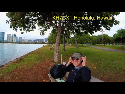 KH7CX Portable Ham Radio Station -  20 Meters at Magic Island, Honolulu