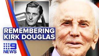 Iconic actor Kirk Douglas dies aged 103 | Nine News Australia