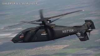 미 육군의 차세대 헬기 'S-97 레이더' 저공 비행속도 370Km/h 돌파!  놀라운 속도와 비행소음이 줄어든 'S-97 레이더' 소개 영상