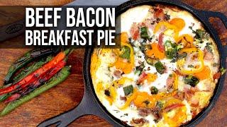 Beef Bacon Breakfast Pie
