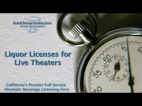 Liquor License for a Live Theatre