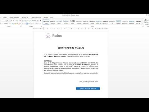 Como hacer un certificado de trabajo en word 2013 2016