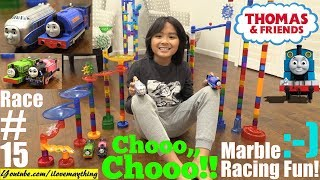 Marble Racing, Thomas the Tank Engine and Friends Race Number 15! Racing Elimination Game