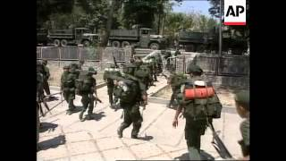 EAST TIMOR: INDONESIAN TROOPS PREPARE TO LEAVE
