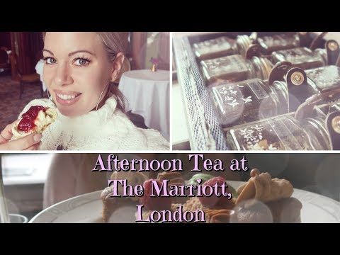 Afternoon Tea 🍰 With Free Flowing Bubbles At The Marriott In County Hall, London Vlog   March 2018