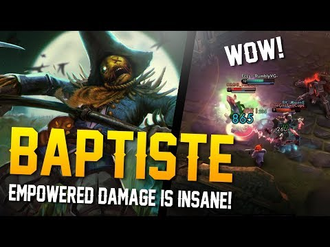 Vainglory YoloQ - Ep 47: EMPOWERED DAMAGE IS OP!! Baptiste |CP| Jungle Gameplay