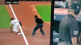 YANKEES Brett Gardner Gets tag out going for a triple