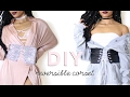 DIY REVERSIBLE CORSET BELT + HOW TO STYLE | Adonia Bree