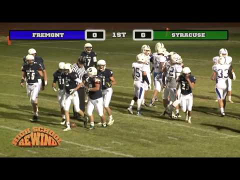 High School Rewind - Fremont @ Syracuse (Football) {10-24-14}