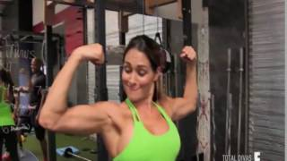 Nikki Bella Flexing Her Massive Biceps