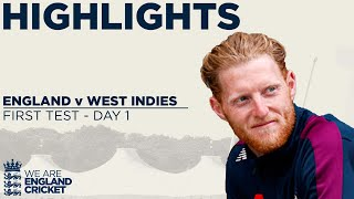 Day 1 Highlights | Cricket Is Back As Burns and Denly Dig In | England v West Indies 1st Test 2020