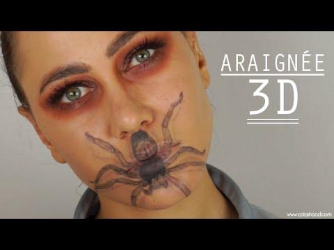 Maquillage halloween araign e 3d colashood2 youtube - Maquillage halloween araignee ...