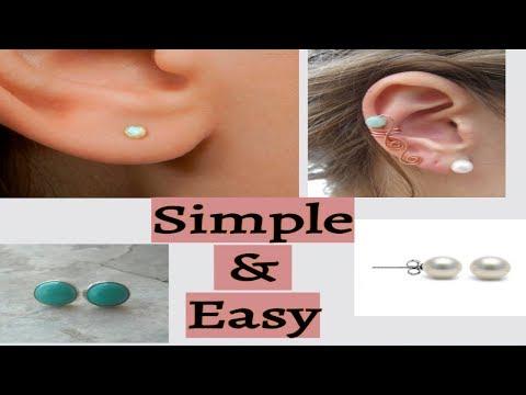 Making Simple & easy Handmade ear studs | Tutorial | DIY