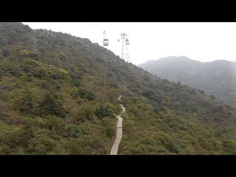 Lantau Island Cable Car, Hong Kong (HD)