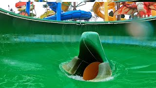 Dino Water Park - Fortress Bowl Slide | Trichterrutsche POV