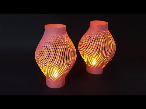 How to Make Paper Lantern for Decoration Ideas (Diwali and Christmas)   Night Lamp with Paper