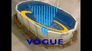 Vogue Oval Steel Butressless Pool Installation