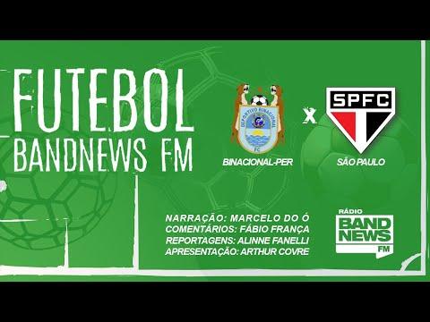 AO VIVO Binacional-PER x São Paulo - Copa Libertadores - 05/03/2020