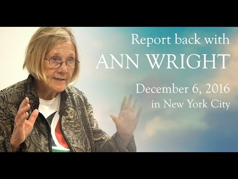 Report back with ANN WRIGHT