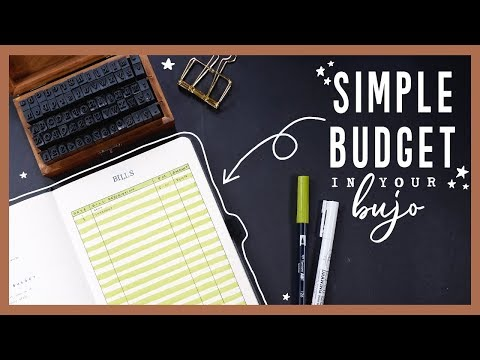 How To Budget In Your BuJo (Even if you SUCK with money!)