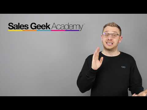 Welcome To Sales Geek Academy 2020