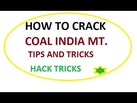 Coal India, Management Trainee Syllabus ,HOW TO CRACK COAL INDIA MT .