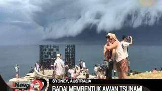 Tanda Kiamat ? Awan Berbentuk Tsunami Di Langit Sydney Australia - iNews Malam 11/11