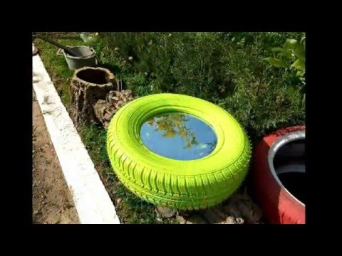 used tires recycling  decorative gardens ideas  YouTube