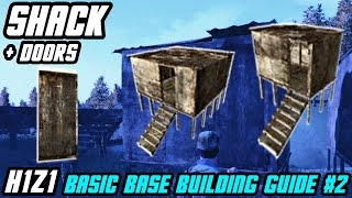 How To Craft SHACKS And METAL/WOODEN DOORS Basic Base Building 2 // H1Z1