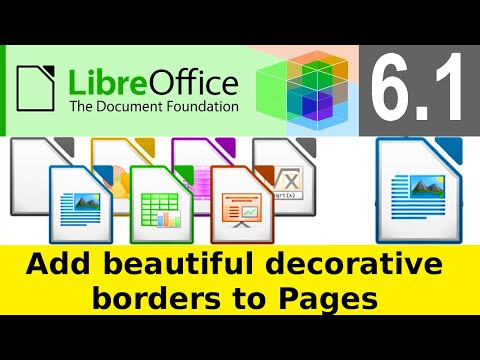 LibreOffice Writer 6.1.3 | How To Add Decorative Page Borders using Page Styles  | Page Styles   Add