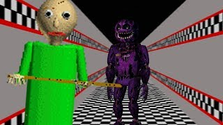 PURPLE GUY FOUND IN BALDIS! | Baldi's Basics in Education and Learning (FNAF MOD)