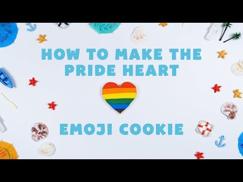 How to Make a Pride Rainbow Heart Cookie Emoji