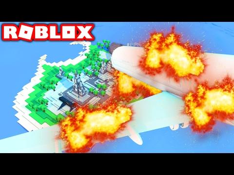 SURVIVE A PLANE CRASH IN ROBLOX! (Roblox Survive Plane Crash)