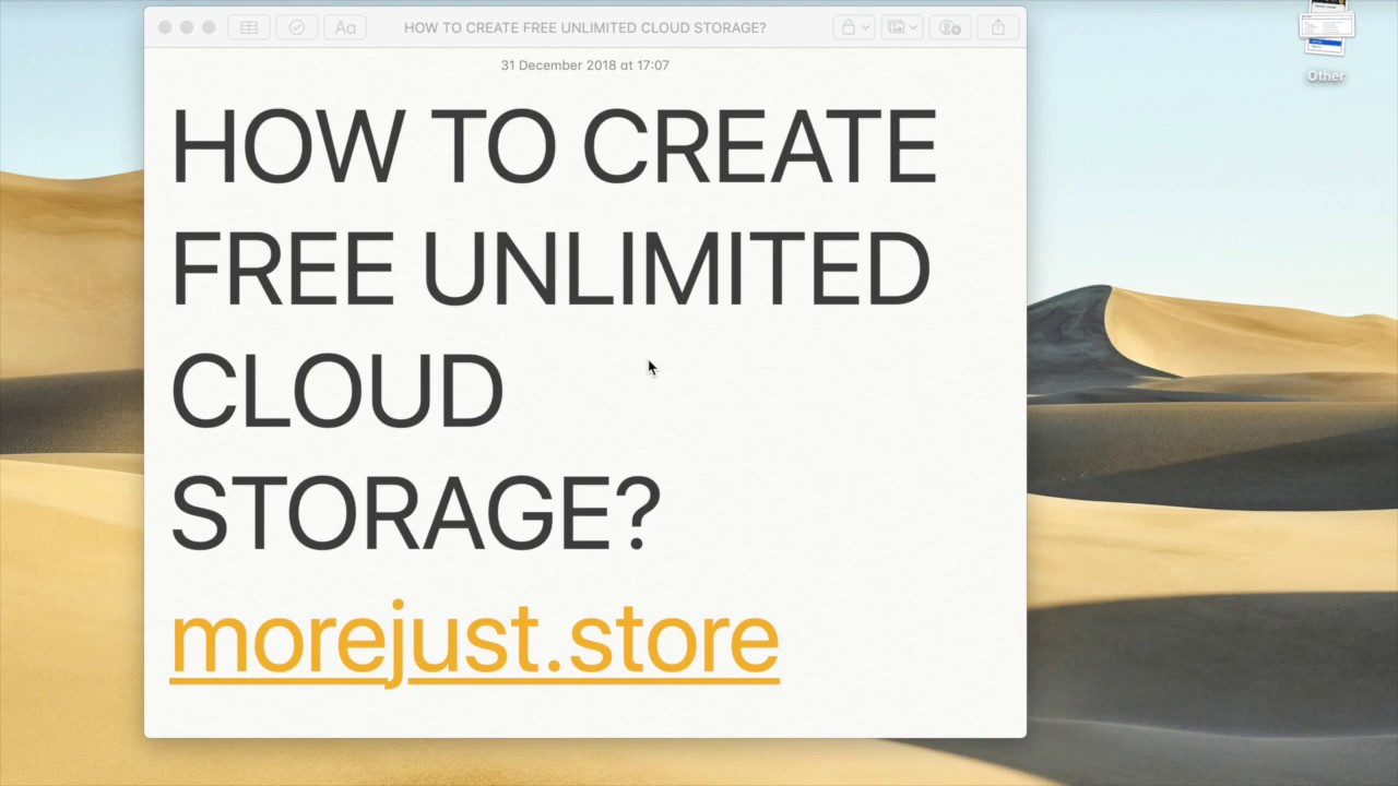 Morejust: store - Create your own free unlimited cloud storage