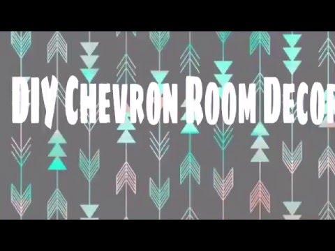 Diy chevron room decor youtube for Room decor laurdiy
