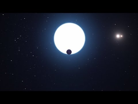 Artist's impression of planet orbiting in the HD 131399 system