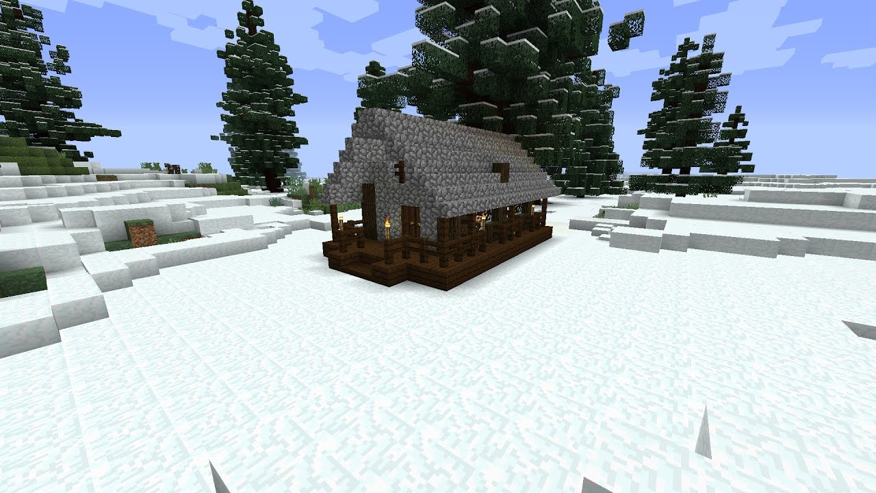 SURVIVAL MINECRAFT SNOW BIOME HOUSE(House Tutorial #9)