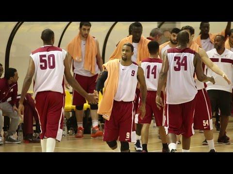 Qatar national basketball team in Lithuania 2014