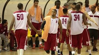 Qatar national basketball team in Lithuania 2014