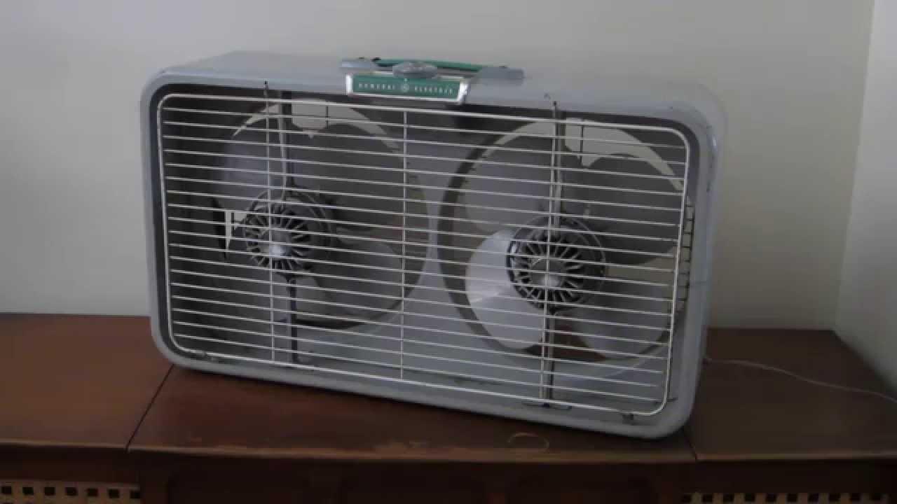 1960s Box Fan : General electric twin box window fan model f t youtube